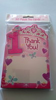 Pack of 1st birthday thankyou cards (Code 1441)
